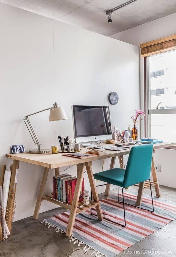 Mesa cavalete para escritório clean