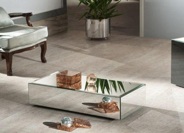 Mesa de centro espelhada pequena