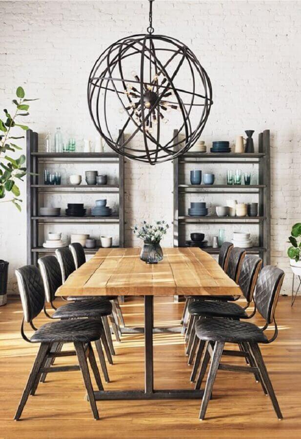 modelo simples de cadeiras estofadas para sala de jantar Foto Pinterest