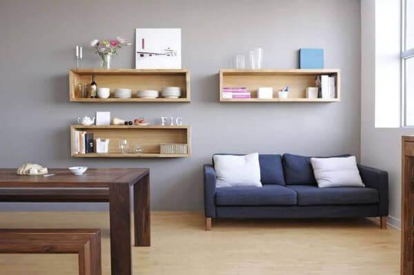 Modelos de nichos de madeira para sala de estar