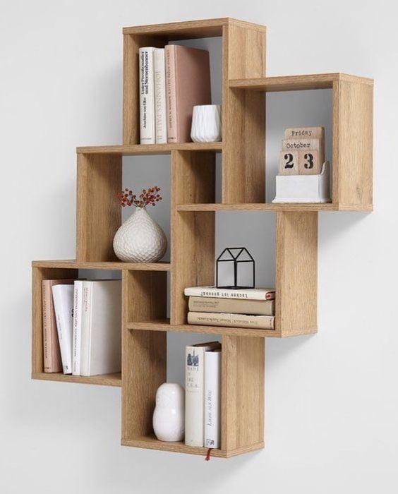 Nichos de madeira decorativo