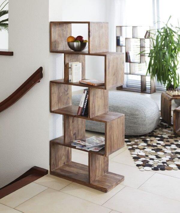 Nichos de madeira decorativo para casa