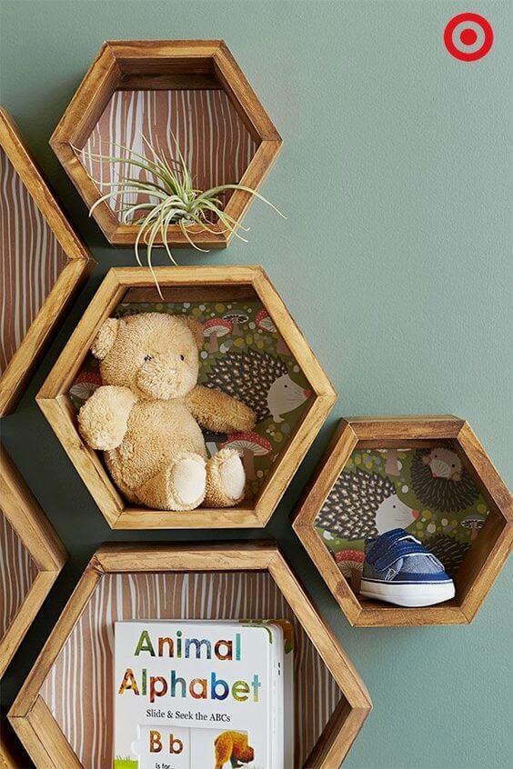 Nichos para quarto de bebê decorativo