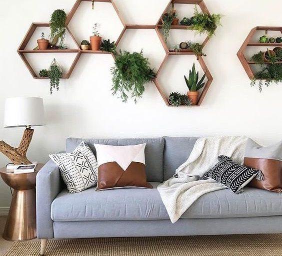 nichos-hexagonal-para-sala-foto-pinterest