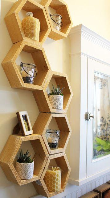 Nichos para madeira decorativo