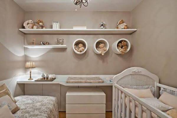 Nichos redondos para o quarto de bebê