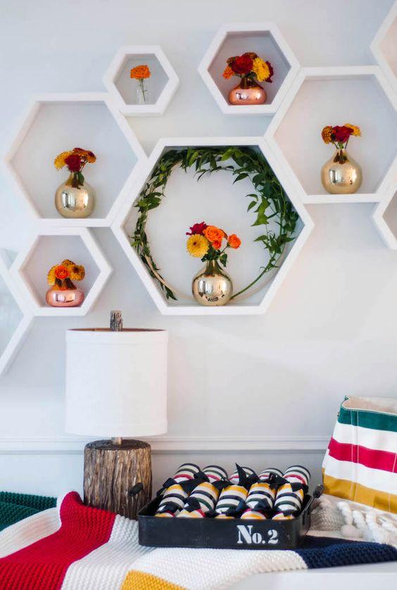Nichos para quarto decorativos