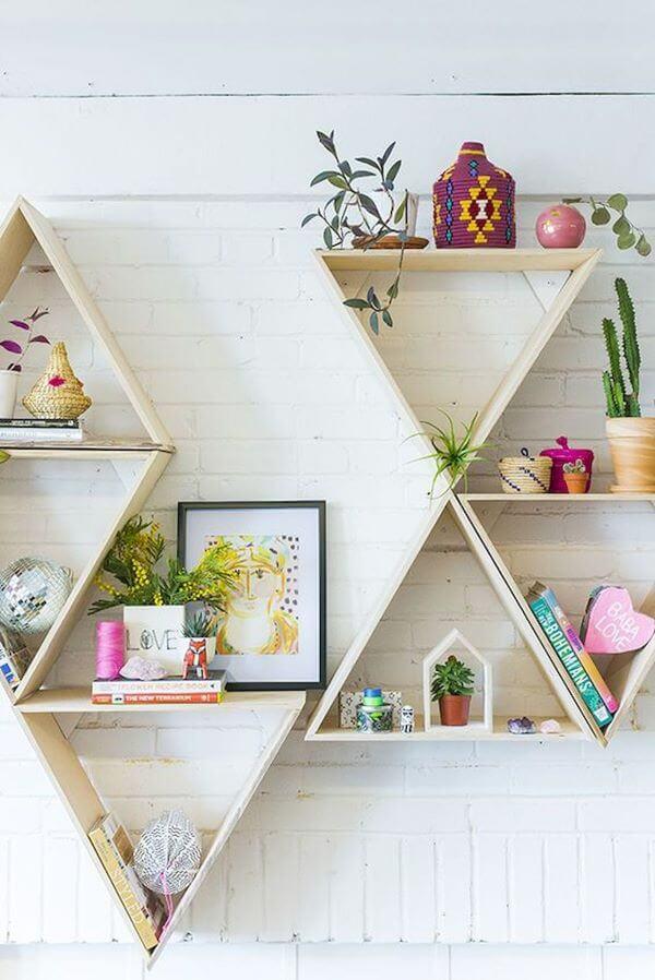 Nichos para quarto em triangulo