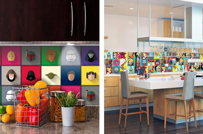 Os papéis de parede de super-heróis podem compor a decoração de diferentes ambientes da casa