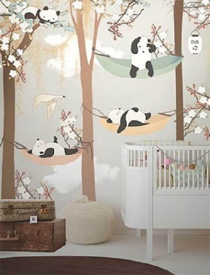 papel de parede para quarto de bebê com decoração lúdica Foto Revista Crescer