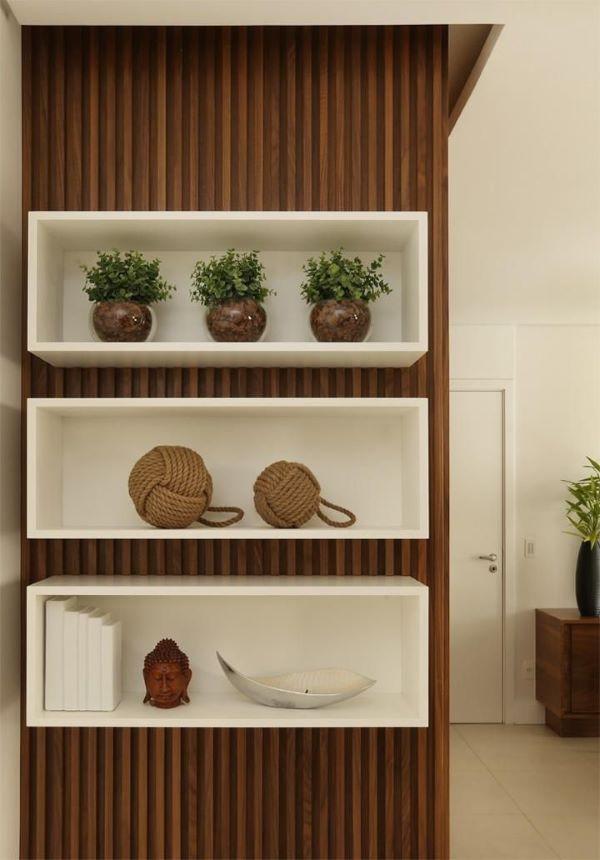 nichos de madeira branco