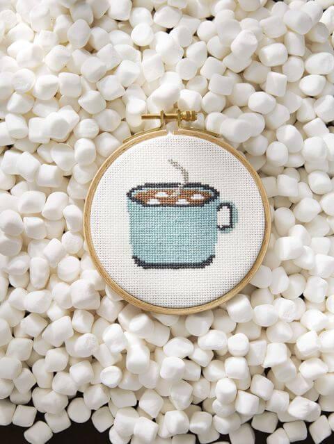 Ponto cruz perfeito para decorar o cantinho do café