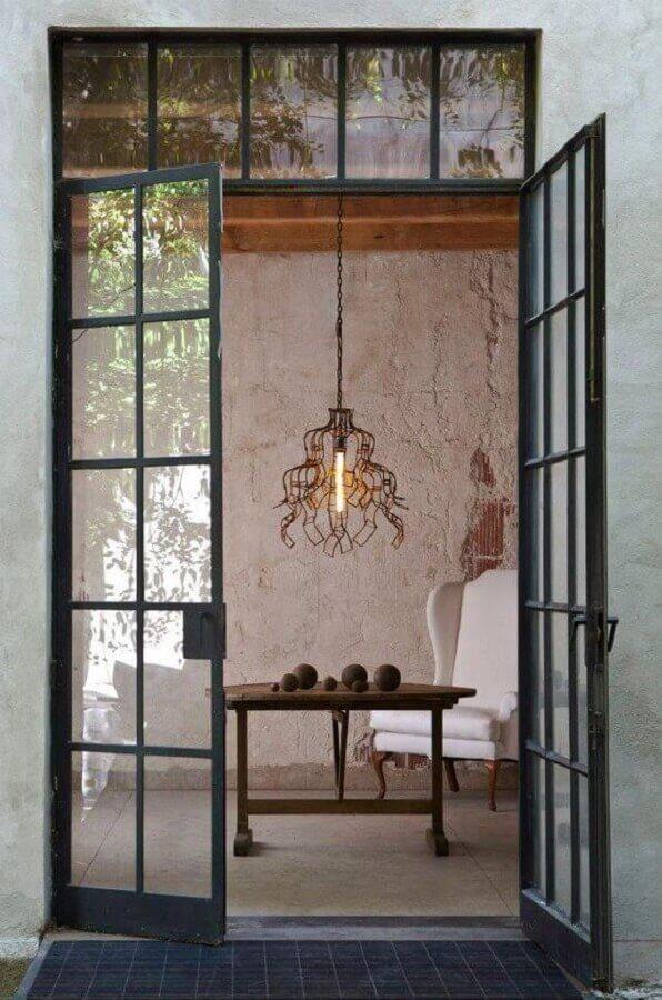 porta de ferro com vidro Foto Pinterest