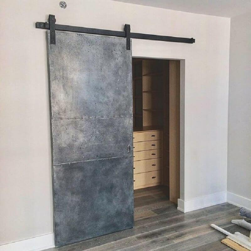 porta de ferro de correr Foto Loft Doors