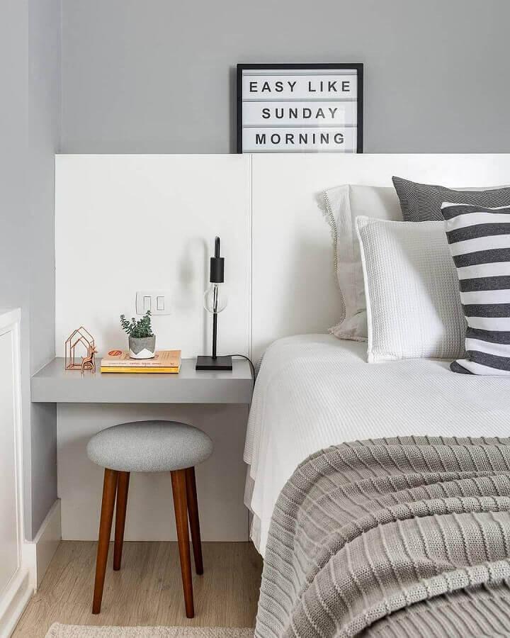 quarto cinza e branco moderno Foto Pinterest