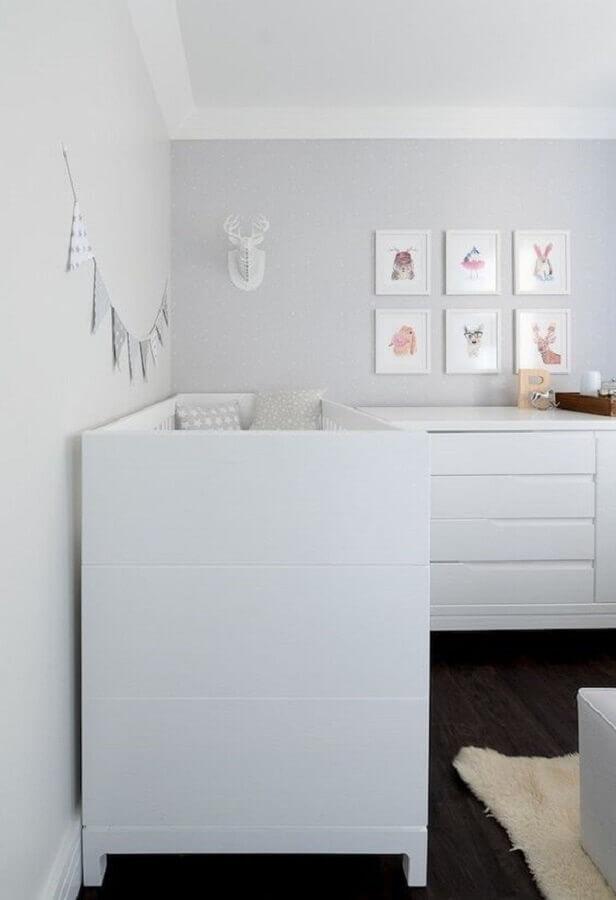 quarto de bebê branco Foto Ideas Decor