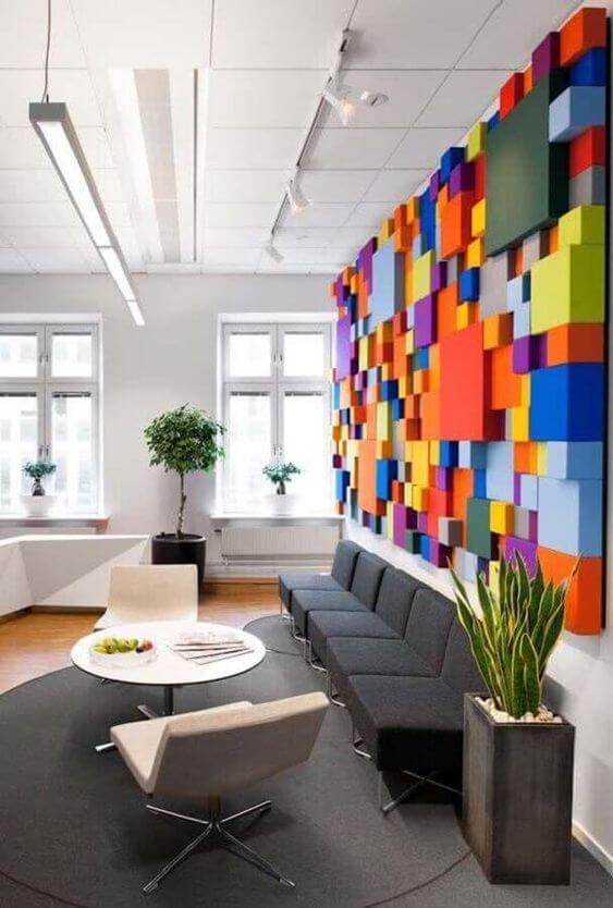 Sofá para escritório cinza