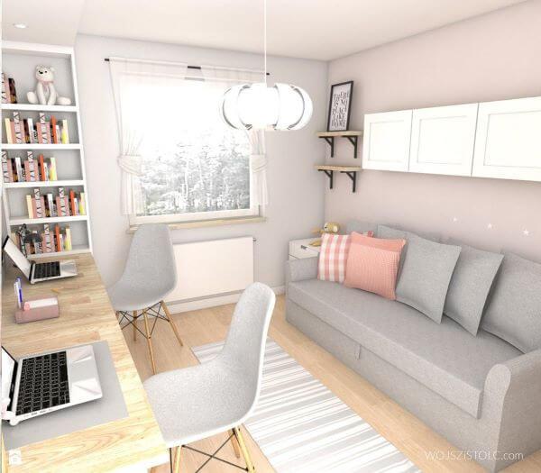 Sofá para escritório simples em casa
