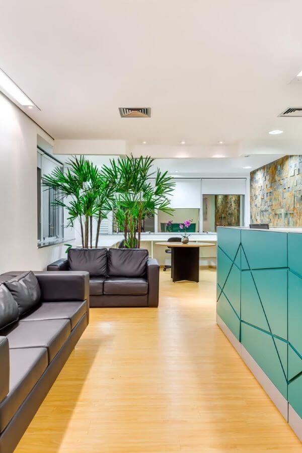 Jogo de sofá para escritório em preto
