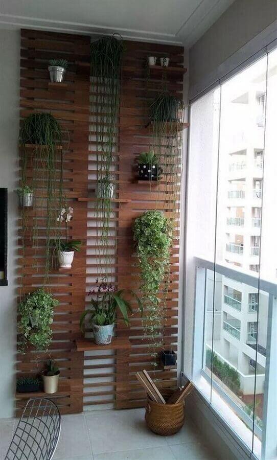 tipos de treliças de madeira para decoração de varanda pequena Foto Apartemen Decor