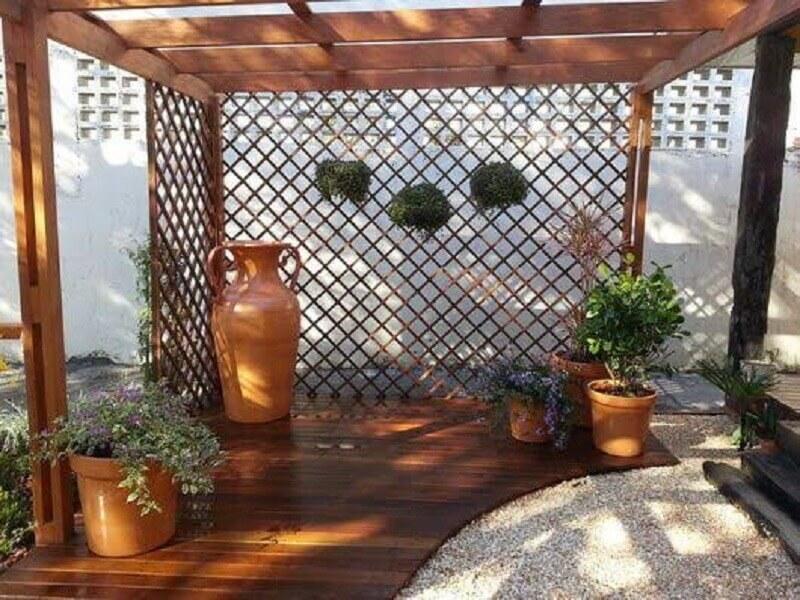 tipos de treliças de madeira para jardim Foto Pinterest