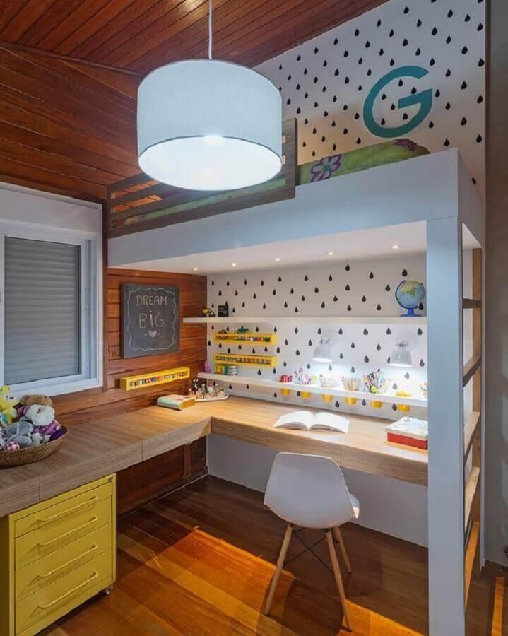 tons de amarelo para decoração de home office planejado Foto Carmen Calixto Arquitetura