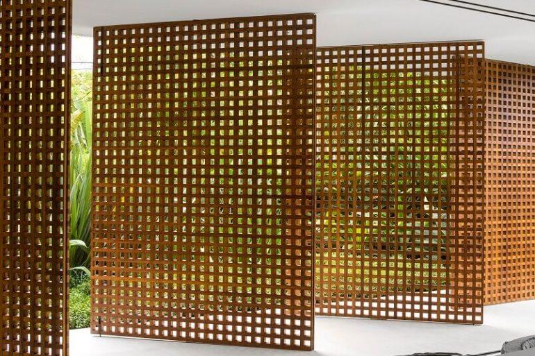 treliça de madeira para divisória Foto Archilovers