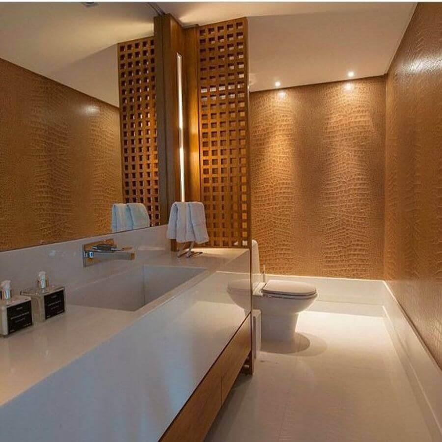 treliça de madeira para divisória de banheiro Foto Pinterest