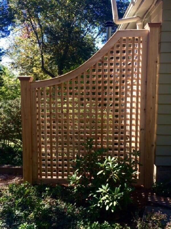 treliça de madeira para divisória de jardim Foto Atlas Outdoor