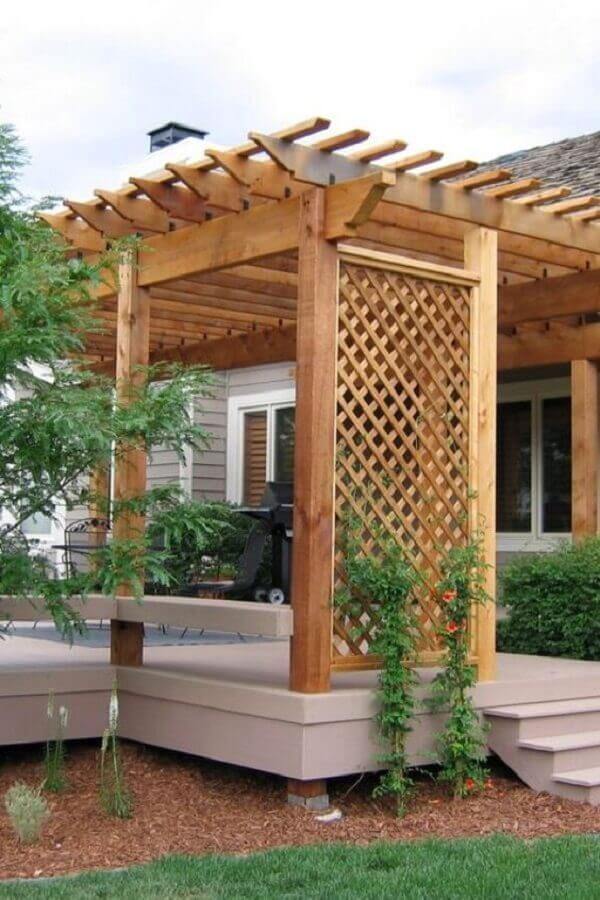 treliça de madeira para jardim com varanda Foto North Landscape Gallery
