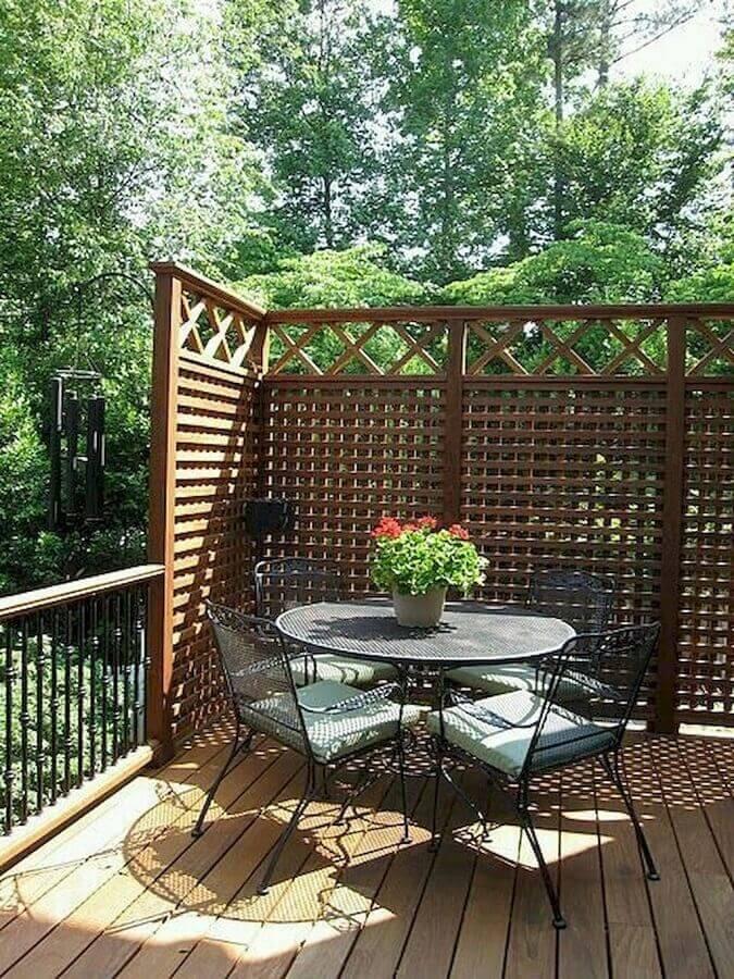 treliça de madeira para varanda Foto Pinterest
