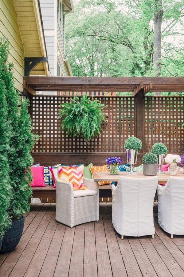 treliças de madeira para varanda de madeira Foto Archilovers