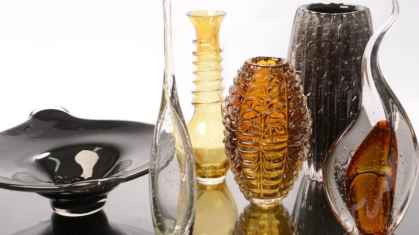 Vaso murano em diferentes cores