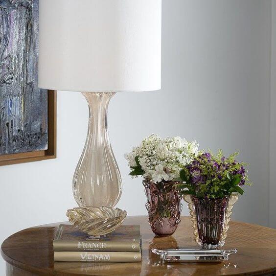 Vaso de murano com abajur lindo