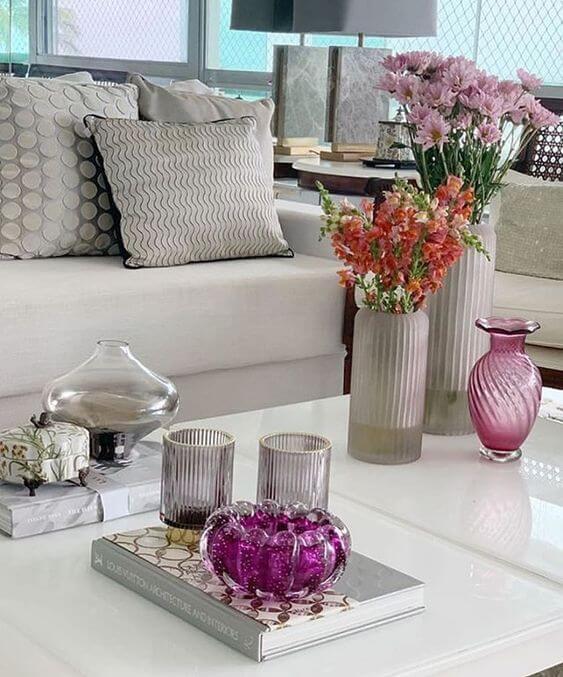 Vaso murano cor de rosa