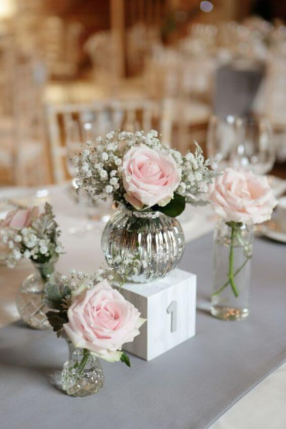 Vaso murano cristais com flores
