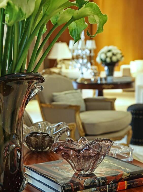 Vaso murano para decoração de casa