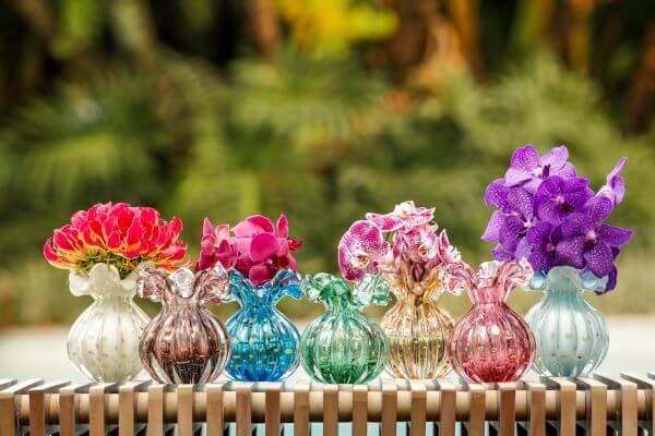 Vasos de murano coloridos
