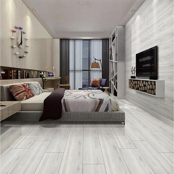 A cerâmica foi usada tanto no piso quanto na parede