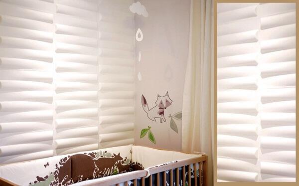 A cerâmica para quarto do bebê com efeito 3D traz descontração ao espaço