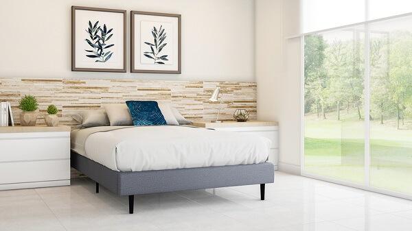 A cerâmica para quarto pode ser utilizada como cabeceira de cama