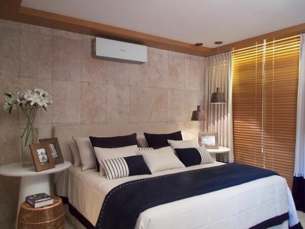 A cerâmica para quarto se assemelha a superfície de uma pedra
