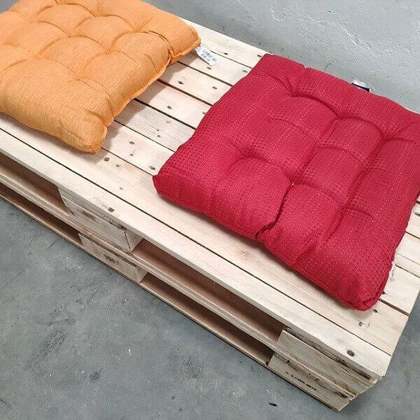 Almofadas de futon para banco de pallet