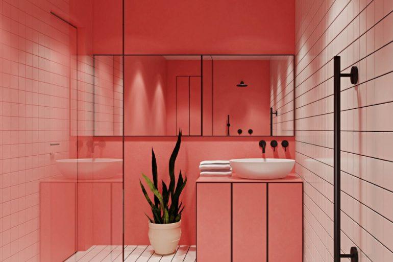 Banheiro rosa 3d ideias Decor