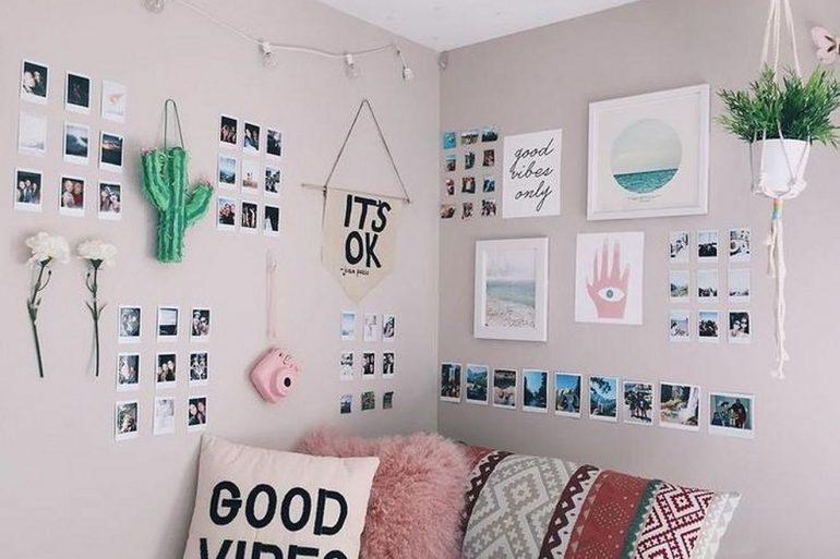 Decore o quarto com um lindo mural de fotos