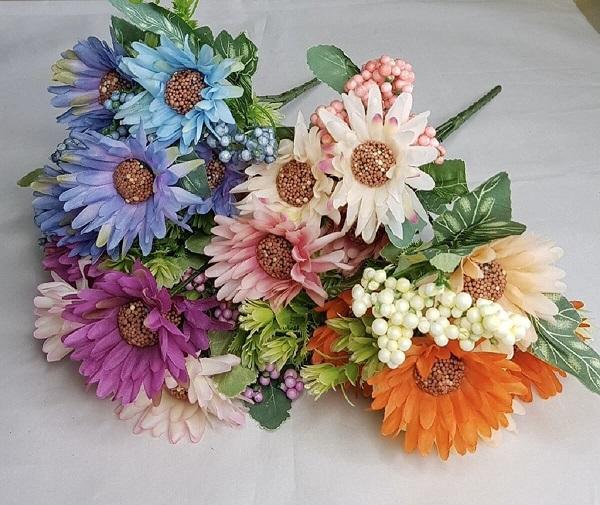 Flores tropicais coloridas