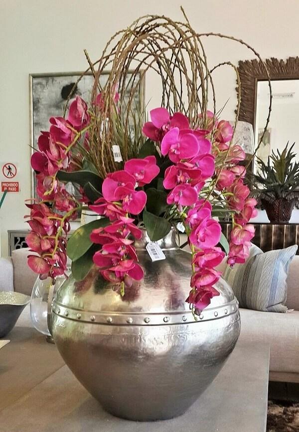 Flores tropicais orquídeas vaso sala