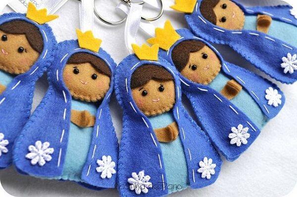 Invista na confecção de chaveiros de feltro com a imagem da Nossa Senhora Aparecida
