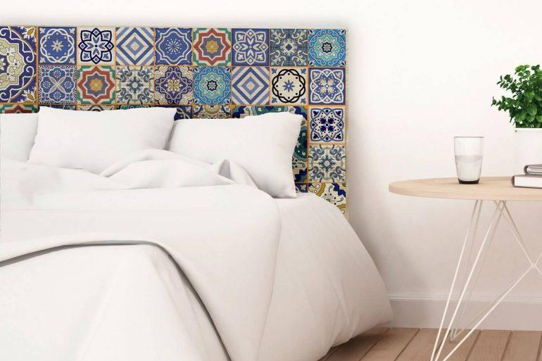 Modelo de cerâmica para quarto usada como cabeceira. Fonte: Pinterest