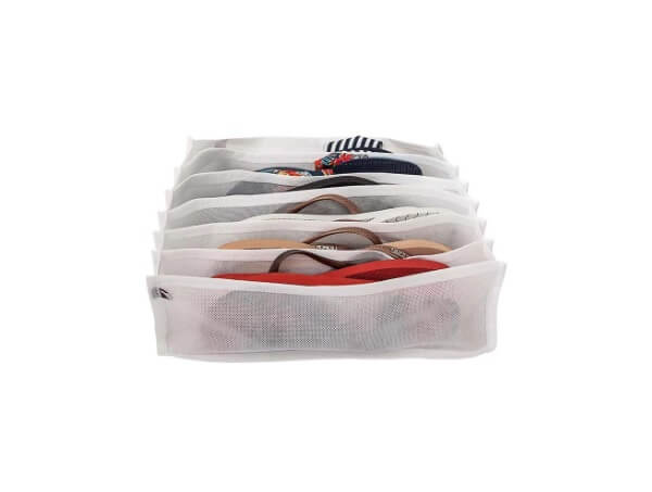Modelo de colmeia organizadora de gavetas para chinelos
